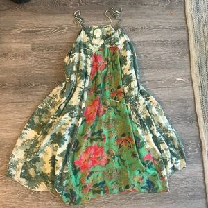 Anthropologie tropical print Maeve dress